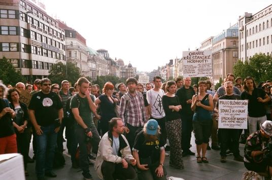 布拉格難民示威