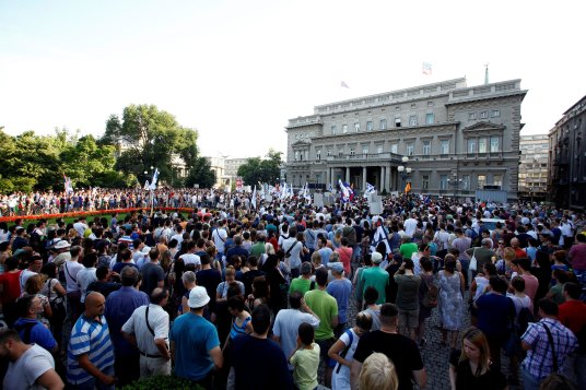 People protest against Belgrade Waterfront project in Belgrade