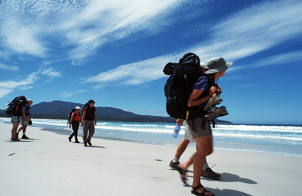 Guests on the Maria Island Walk traverse one of the most