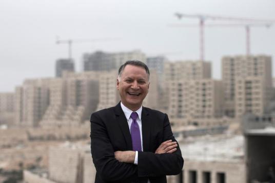 New Palestinian city Rawabi under construction